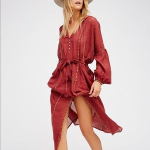 Free People Loveliest Hooded Maxi Cover Up